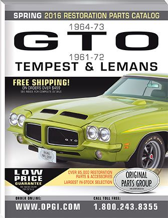 1961-1973 GTO, LeMans, and Tempest Parts Catalog | OPGI Catalogs
