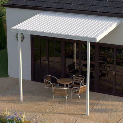 Heritagepatios Aluminum Attached 12ft W X 8 Ft D Patio Cover Awning Patio Awning Patio Carport Patio