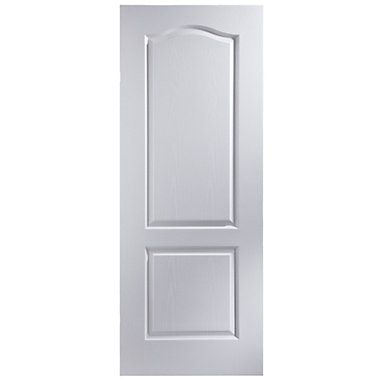 2 Panel Arched Primed White Woodgrain Internal Fire Door H 1981mm W 762mm White Interior Doors Internal Doors Fire Doors Internal