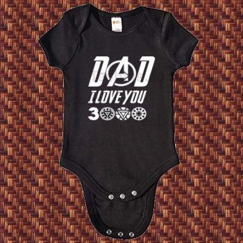 Babys Comfortable Sleeveless Bodysuit Onesies Print I Love You 3000 Times Jumpsuit Black