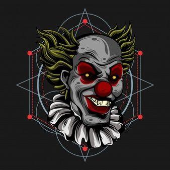 Monster Clown Vector Premium Download In 2020 Vector Monster