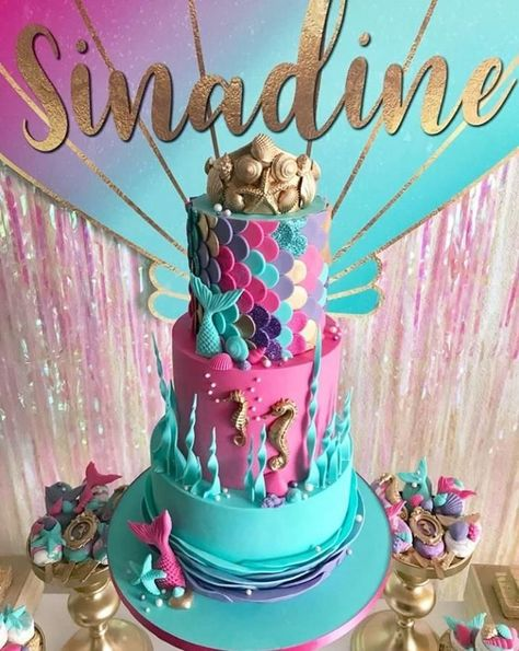 Pink, Purple & Aqua Mermaid Under The Sea Birthday Party by