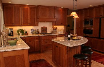 Triangle Kitchen Island java cabinets like the granite | dream home | pinterest | kitchens