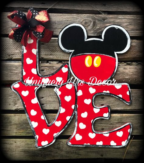 A personal favorite from my Etsy shop https://www.etsy.com/listing/592320081/love-door-hanger-door-hanger-mouse-door