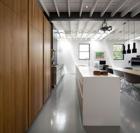 modern conversion 6 Small 1950's Building Hiding a Jewel Conversion Within: Le 205 by Atelier Moderno