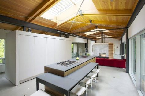 Kitchen area at Southlands Residence Deftly, Vancouver by DIALOG