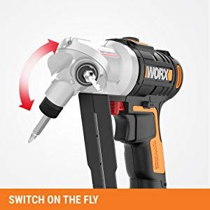 Worx Wx176l 20v Switchdriver 2 In 1 Cordless Drill And Driver With Rotating Dual Chucks And 2 Speed Motor With Precise Ele Drill Cordless Drills Cordless Drill
