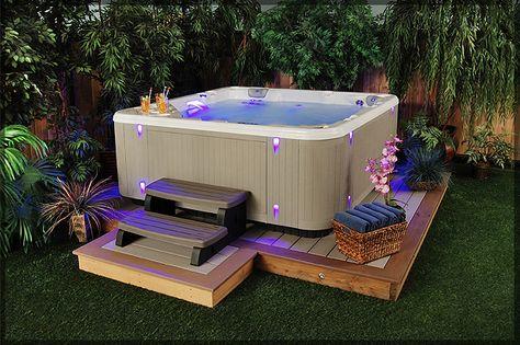 Backyard Hot Tub Ideas Out door Pinterest Backyard hot tubs - pool garten aufblasbar