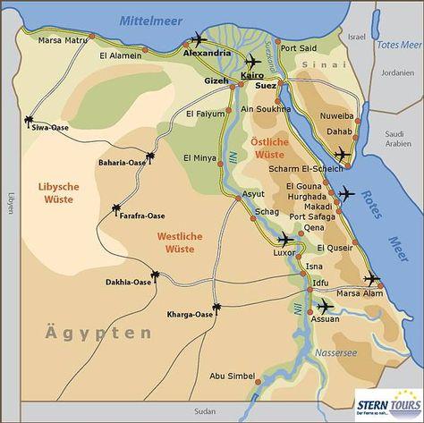 Map Of Red Sea Egypt Region In Egypt Welt Atlas De