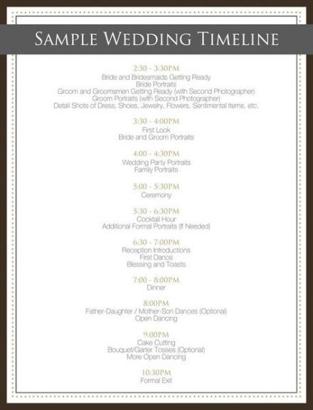 Trendy Wedding Day Timeline 4pm Bridal Parties 33 Ideas Wedding