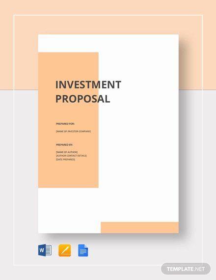 Google Docs Proposal Template Unique 30 Investment Proposal Templates Word Pdf Google Docs Business Proposal Template Business Investment Proposal Templates