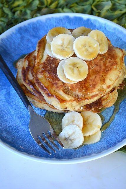 Browned Butter Buttermilk Banana Pancakes Bananabuttermilkpancakes Buttermilk Banana Pancakes Banana Pancakes Pancake Recipe Buttermilk