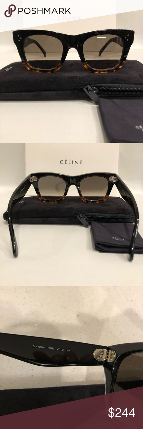 7a8e95f85f05e Celine Catherine sunglasses Celine 41089 s small Catherine black tortoise  sunglasses New condition. 100