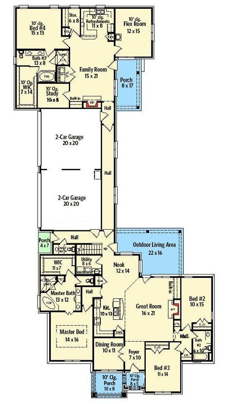 Plan 58617sv Two Homes In One In Law House Multigenerational House Plans House Floor Plans