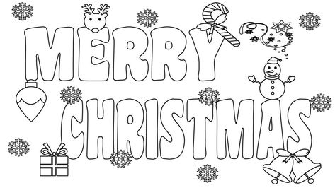 printable merry christmas coloring pages for kids adults and mom 2019  merry christmas