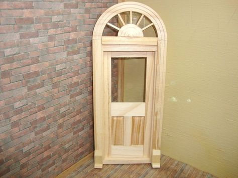 SINGLE FRENCH  dollhouse miniature wood #6022 1//12 scale Houseworks DOOR