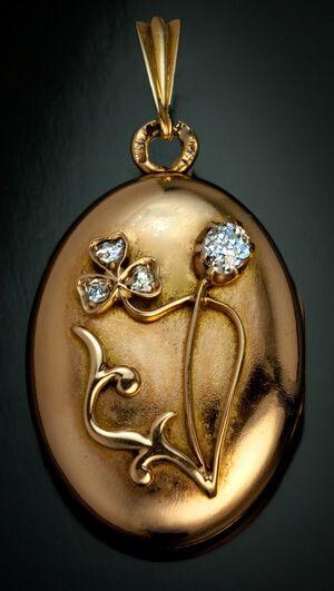 Bunny Rabbit Locket Photo Locket Art Image Locket Bunny Locket Pendant Necklace Round Brass Locket Floral Rabbit Locket Bunny Jewelry