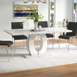 Kimbell Pedestal Base Dining Table Whitewash Dining Table