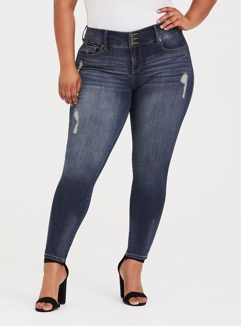 e0df14b35 Premium Stretch Jegging - Medium Wash - It s our skinniest leg opening with  a higher rise and tummy-smoothing waistband