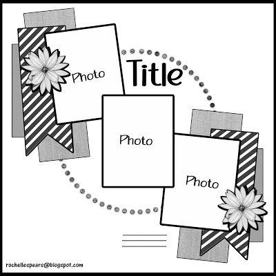 Scrapbooking 3 Photos, Scrapbook Layout Sketches, Scrapbook Templates, Scrapbook Designs, Simple Scrapbooking Layouts, Wedding Scrapbook Layouts, Simple Scrapbook Ideas, Scrapbook Patterns, Owl Templates