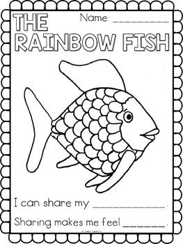 Read The Book The Rainbow Fish To Your Kindergarten Class Also Available In Video Format Through Rainbow Fish Rainbow Fish Activities Fish Crafts Preschool