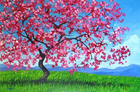 Pink Tree by artist Patty Baker