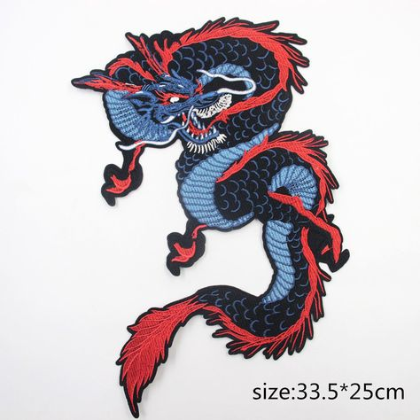 G Dragon Parade New Year Chinese Embroidered Iron On Badge Patch