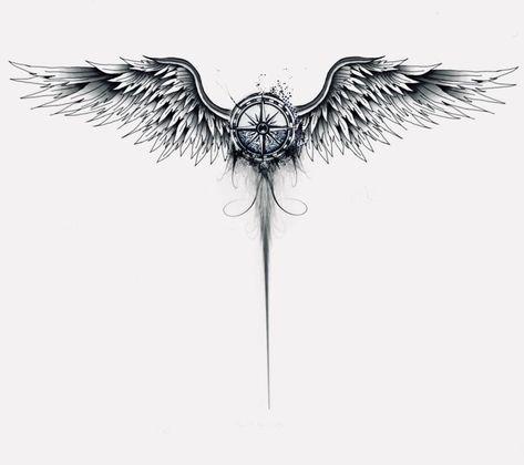 Compass angel wings -  - #Uncategorized