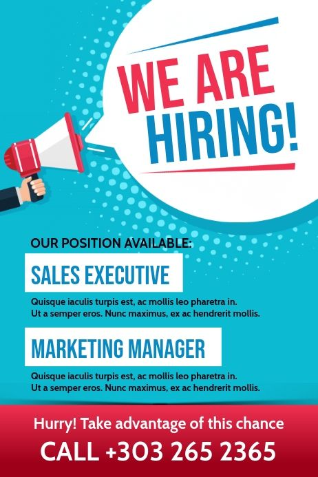 Hiring Poster Hiring Poster Recruitment Poster Design Poster Template Design