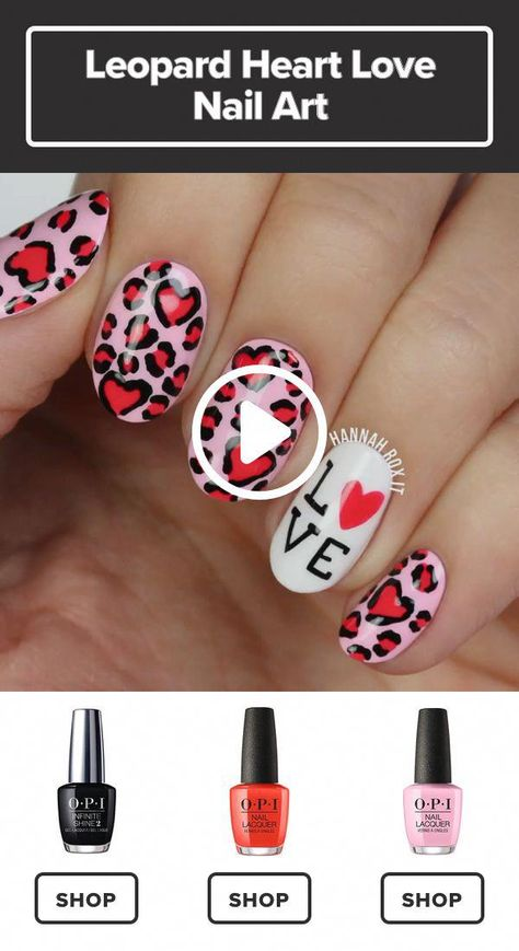 How to Get a Leopard Hearts Manicure #darbysmart #beauty #nailpolish #nailart #naildiy #naildesign #nailtutorial #nailsartdiy