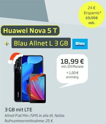 4gb Lte Blau Allnet Flat Xl Ab 19 99 Inkl Smartphone Ab 1 Handyvertrag Smartphone Zuzahlung