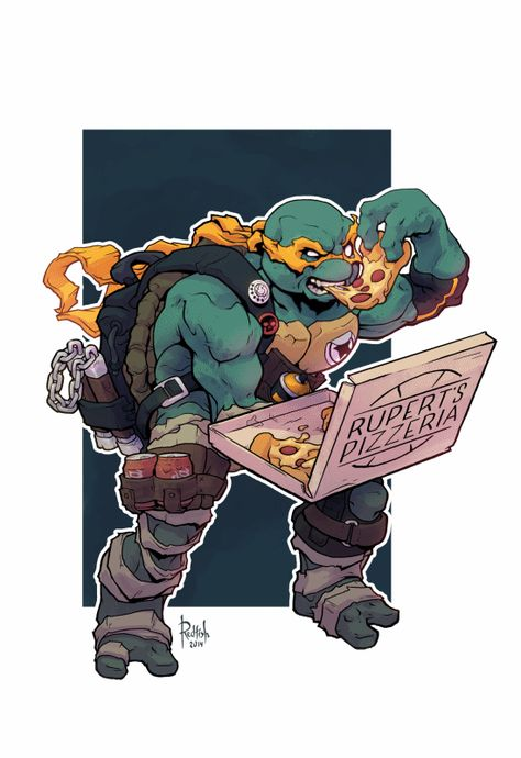 Alex Redfish - TMNT Michelangelo                                                                                                                                                      Plus