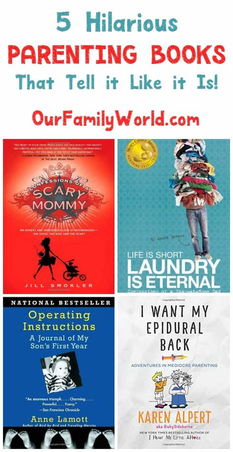5 Funny Parenting Books that Tell it Like it Is in Jul 2021 - OurFamilyWorld.com