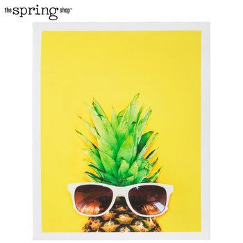 Yellow Pineapple Sunglasses Canvas Wall Decor Pineapple Wall Art Pineapple Wall Decor Canvas Wall Decor