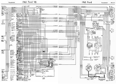 Ford Truck Technical Drawings And Schematics Section H Wiring Diagrams Ford Thunderbird Fairlane Diagram