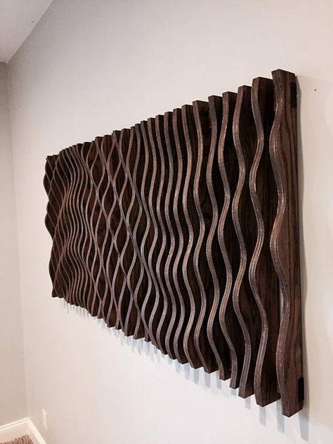 Large Wooden Wall Art Parametric Sculpture Wood Sculpture