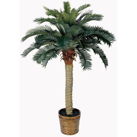 8/' Artificial Phoenix x 2 Palm Tree Plant Bush Date Sago Patio Christmas Lights