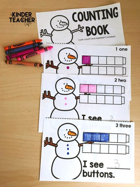 Snowman Counting Book (Free Printable | pre k | Preschool math