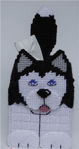 Cardigan Welsh Corgi Dog 3-D Tissue Topper-Plastic Canvas Pattern or Kit