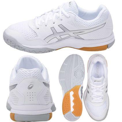Beauty Volley Women's White Silver Gel Shoe Asics Rocket 7