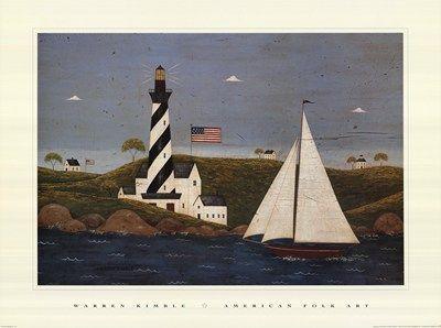 """Warren Kimble """"Coastal Breeze"""""""