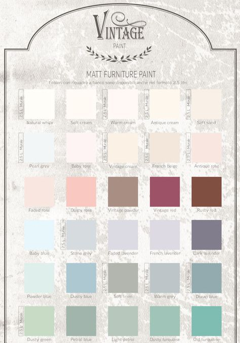 Cartella Colore Vintage Chalk Paint Nel 2019 Colori