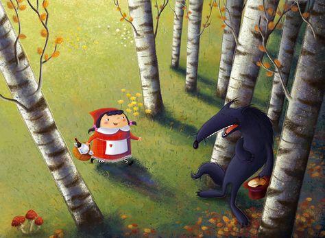 Cappuccetto e il lupo. Little Red Riding Hood