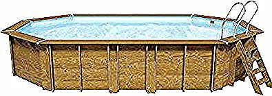Piscine Bois Blooma Kariba 6 37 X 4 12 M Liner Bleu Ldd In 2020 Bleu Liner Coffee Table