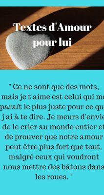 Textes Damour Pour Son Copain 2019 Texte Amour Phrase