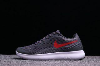 Mens Nike Free Run 6. 0 Charcoal Gray Red White Running
