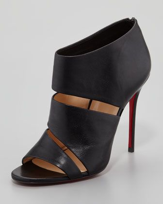 Cachottiere Cutout Red Sole Bootie  by Christian Louboutin at Neiman Marcus.