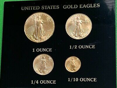 Rare 2000 Millennium Gold American Eagle 4 Piece Set 50 00 One Ounce 3 More In 2020 Gold American Eagle Gold Gold Bullion