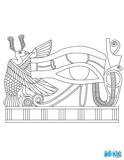 Papyrus Eye Art Coloring Page