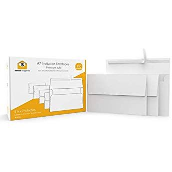 Cream Papermania 5 x 7-inch Blank Card and Envelope Pack of 50
